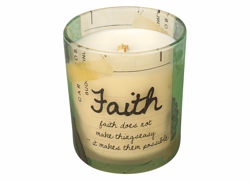 _DISCONTINUED - Faith Inspirational Collection 10 oz. Jar WoodWick Candle