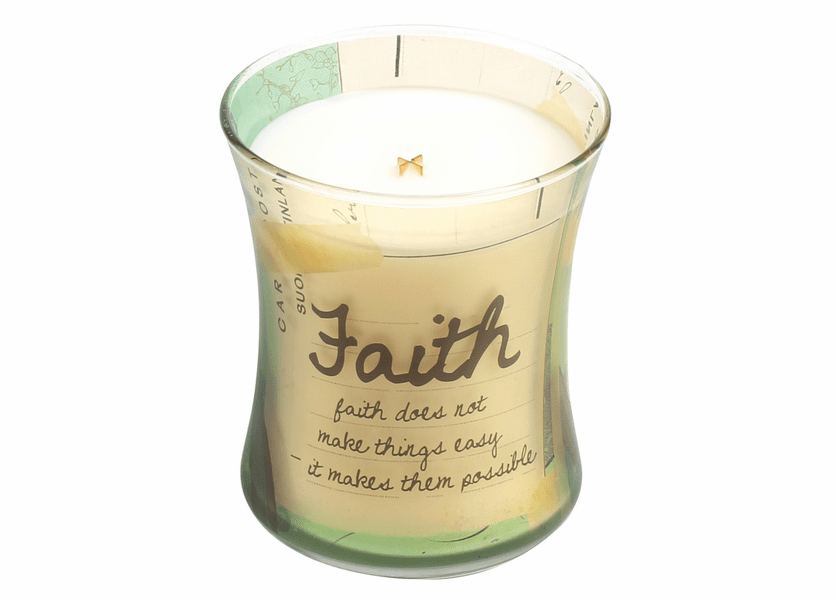 _DISCONTINUED - Faith Vanilla Bean Inspirational Collection Hourglass WoodWick Candle