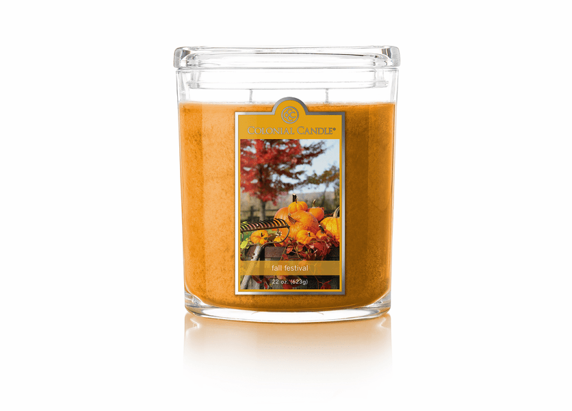 _DISCONTINUED - Fall Festival 22 oz. Oval Jar Colonial Candle