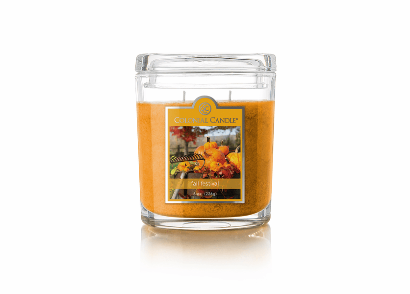 _DISCONTINUED - Fall Festival 8 oz. Oval Jar Colonial Candle
