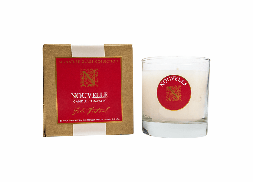 _DISCONTINUED - Fall Festival Holiday Large Signature Glass 11 oz. Nouvelle Candle