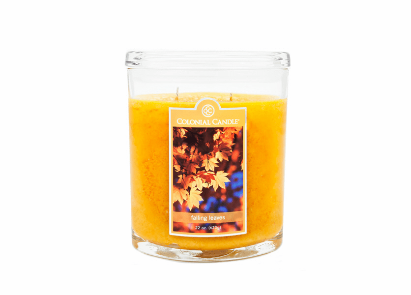 _DISCONTINUED - Falling Leaves 22 oz. Oval Jar Colonial Candle
