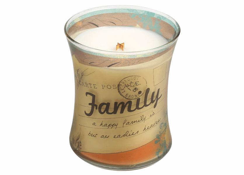 _DISCONTINUED - Family Vanilla Bean Inspirational Collection Hourglass WoodWick Candle