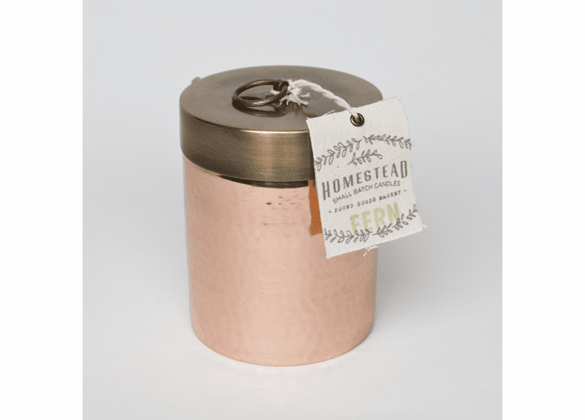 _DISCONTINUED - Fern 14 oz. Hammered Canister - Fairfax & King