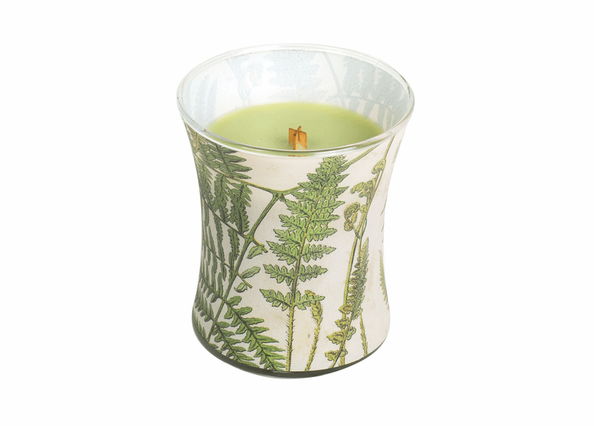 _DISCONTINUED - Fern Decal Hourglass WoodWick Candle