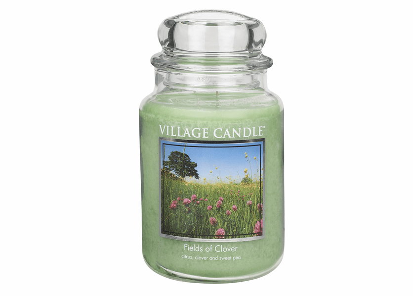 _DISCONTINUED - Fields of Clover 26 oz. Premium Round by Village Candles