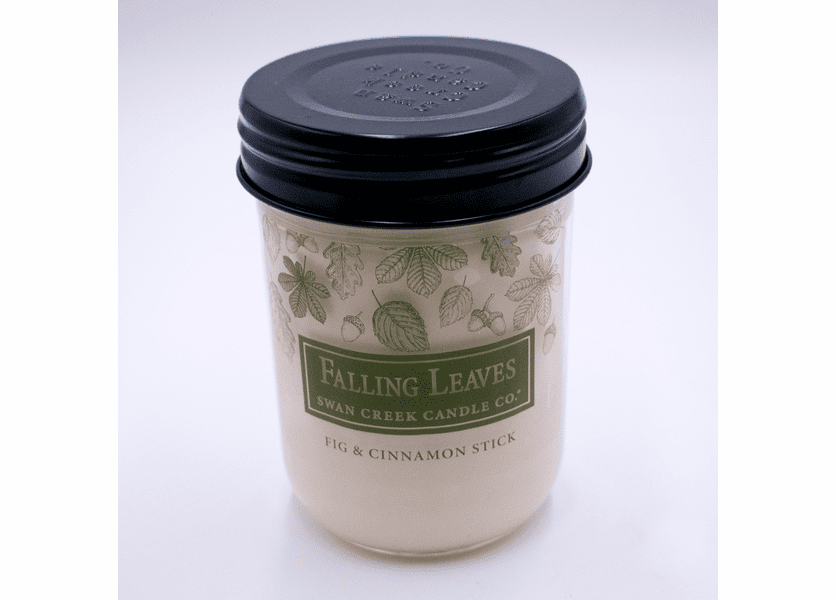_DISCONTINUED - Fig and Cinnamon Stick 12 oz. Swan Creek Autumn Traditions Jar Candle