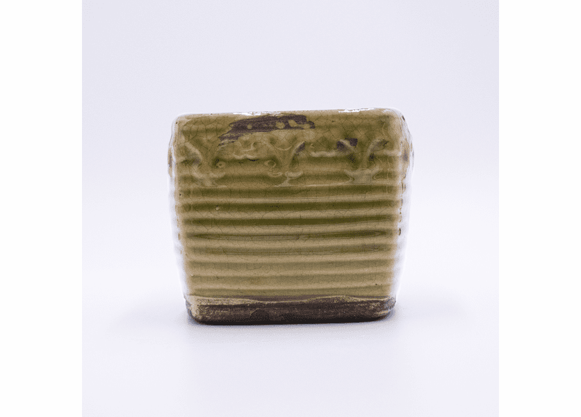 _DISCONTINUED - Fig & Cinnamon Stick Vintage Square Pot Swan Creek Candle (Color: Green)