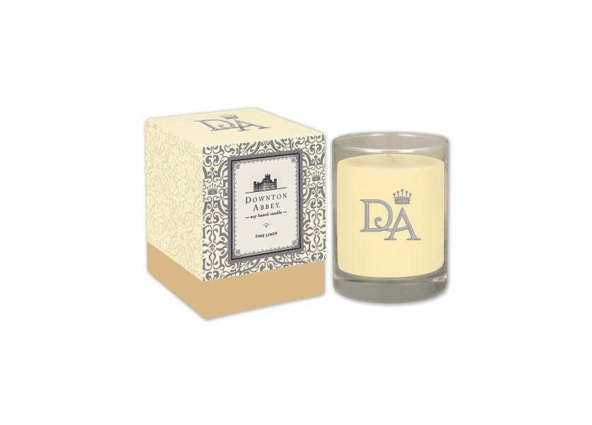 _DISCONTINUED - Fine Linen 10 oz. Downton Abbey Collection Premium Boxed Candle by Boulevard