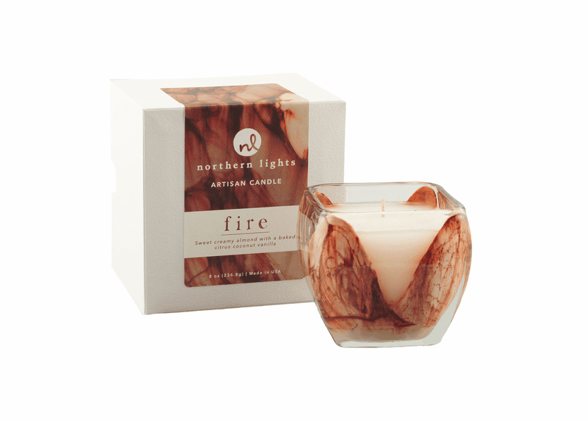 _DISCONTINUED - Fire 8 oz. Cascade Candle by Northern Lights