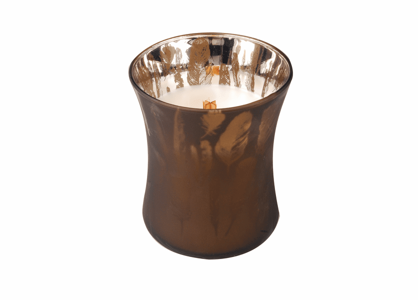 _DISCONTINUED - *Fireside 10oz. WoodWick Dancing Glass Candle