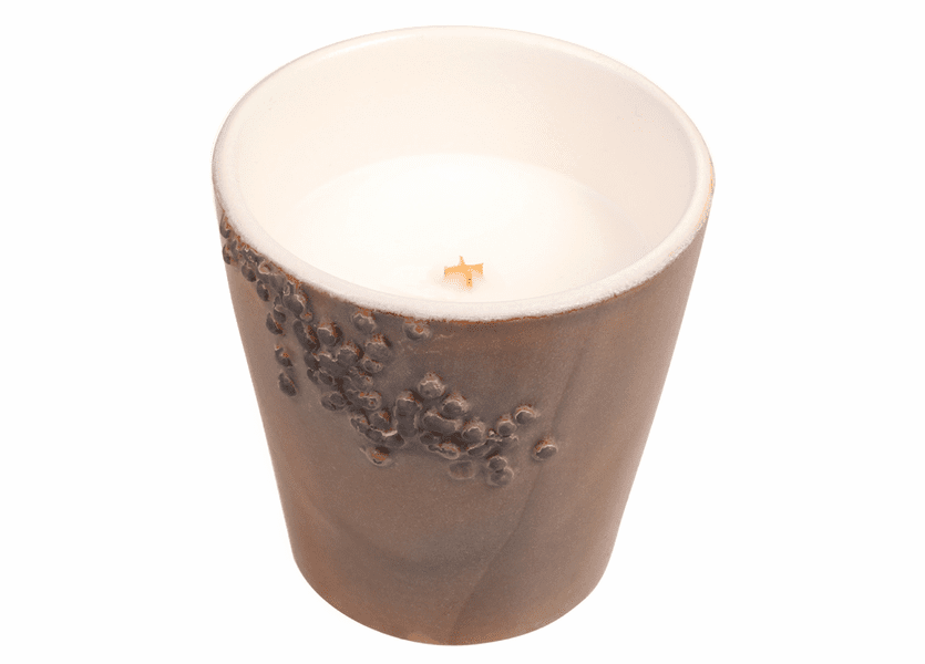 _DISCONTINUED - *Fireside Ceramics Tumbler WoodWick Candle