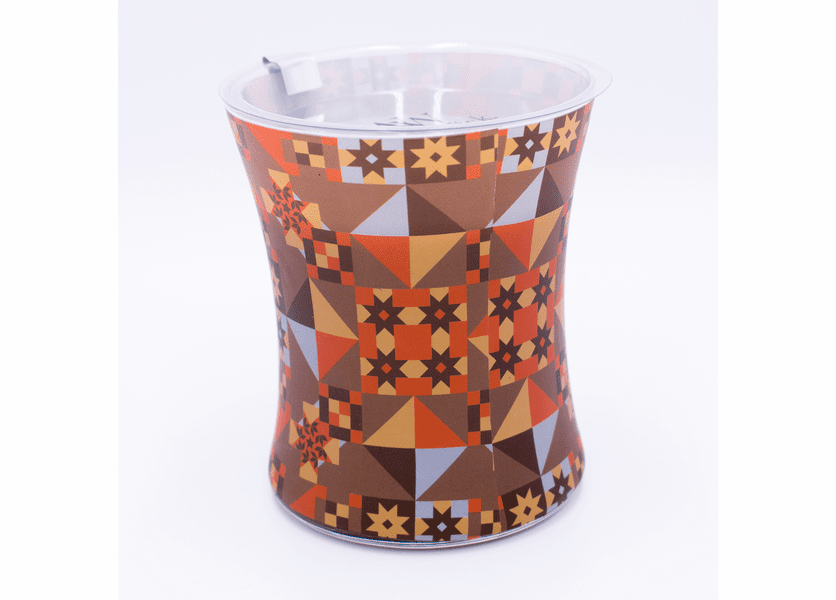 _DISCONTINUED - Fireside Decal Glass WoodWick Candle
