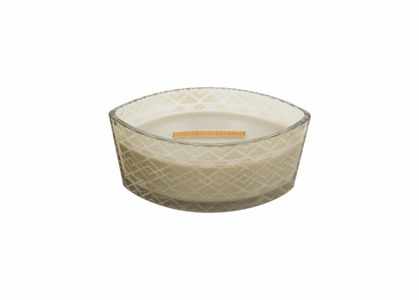 _DISCONTINUED - Fireside Etched Ellipse WoodWick Candle with HearthWick Flame