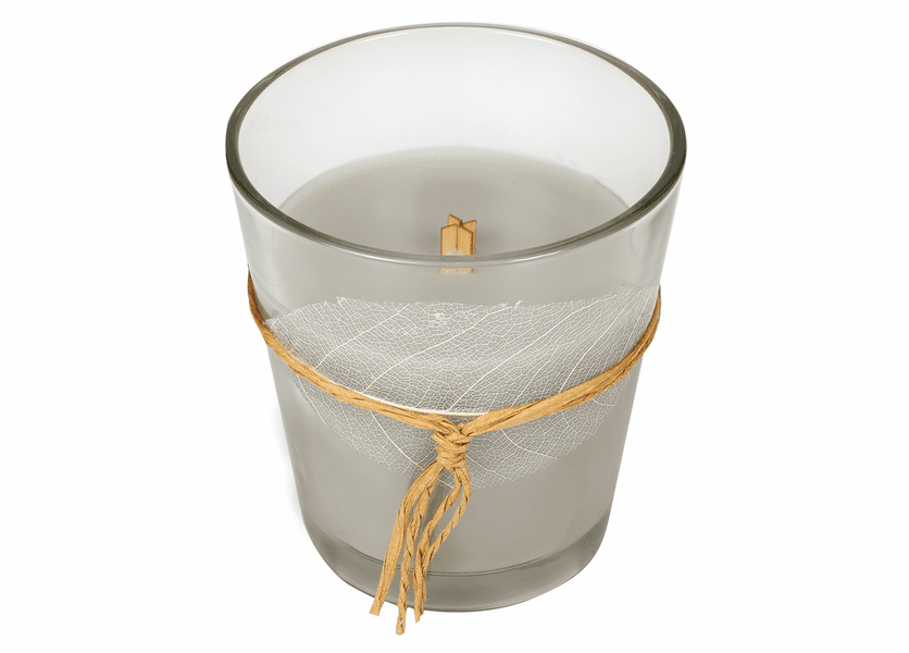 _DISCONTINUED - *Fireside Leaf Collection Glass Jar WoodWick Candle