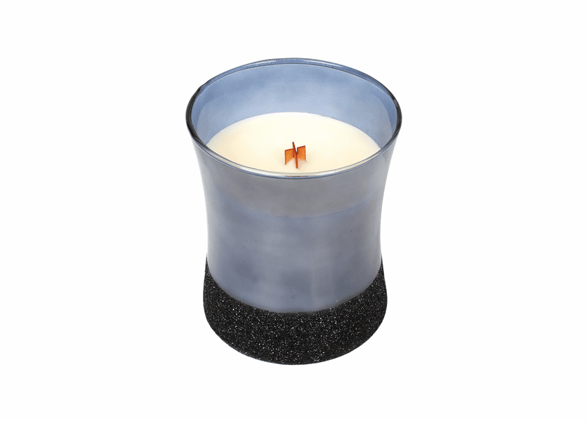 _DISCONTINUED - *Fireside Midnight Glitz Hourglass WoodWick Candle