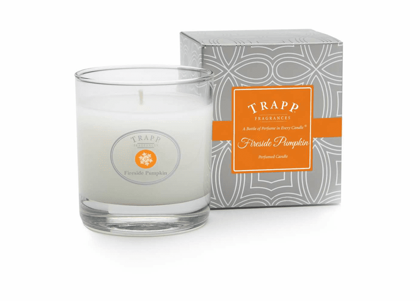 _DISCONTINUED - *Fireside Pumpkin Seasonal 7 oz. Large Poured Trapp Candle