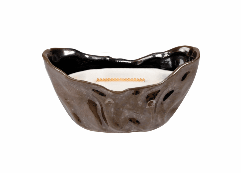 _DISCONTINUED - Fireside Rippled Sienna Medium WoodWick Candle with HearthWick Flame
