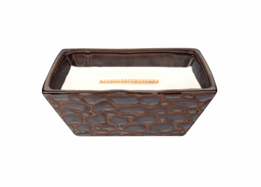 _DISCONTINUED - Fireside River Rock Medium Rectangle WoodWick Candle with HearthWick Flame
