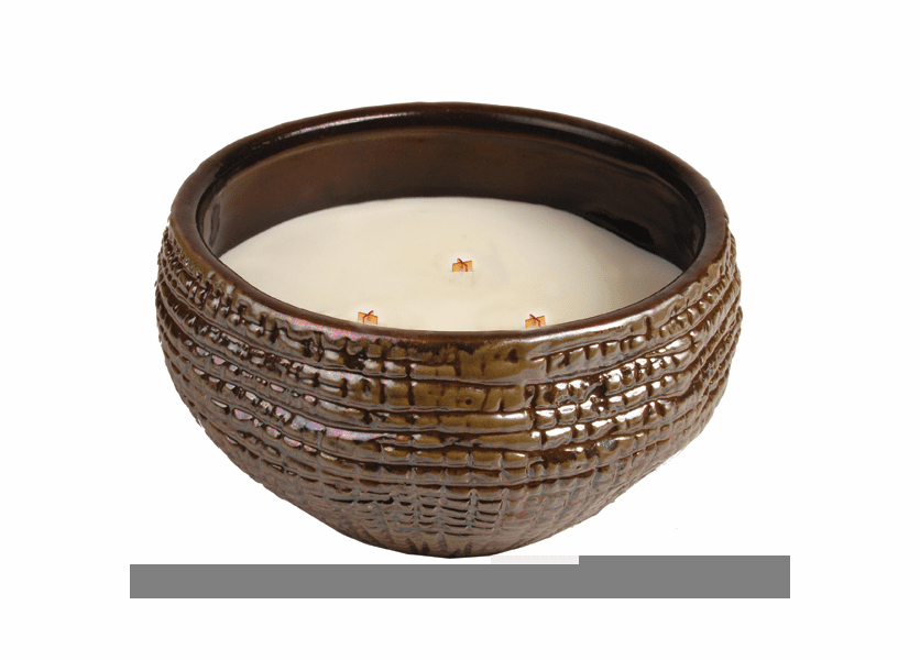 _DISCONTINUED - Fireside Round Bowl Premium WoodWick Candle