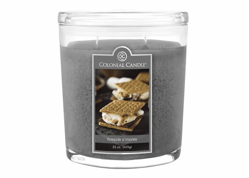 _DISCONTINUED - Fireside S'mores 22 oz. Oval Jar Colonial Candle