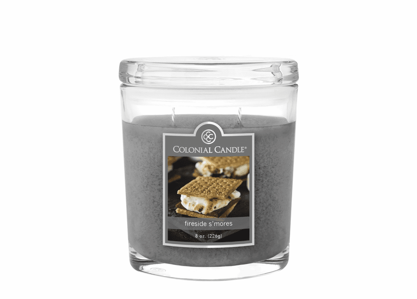 _DISCONTINUED - Fireside S'mores 8 oz. Oval Jar Colonial Candle