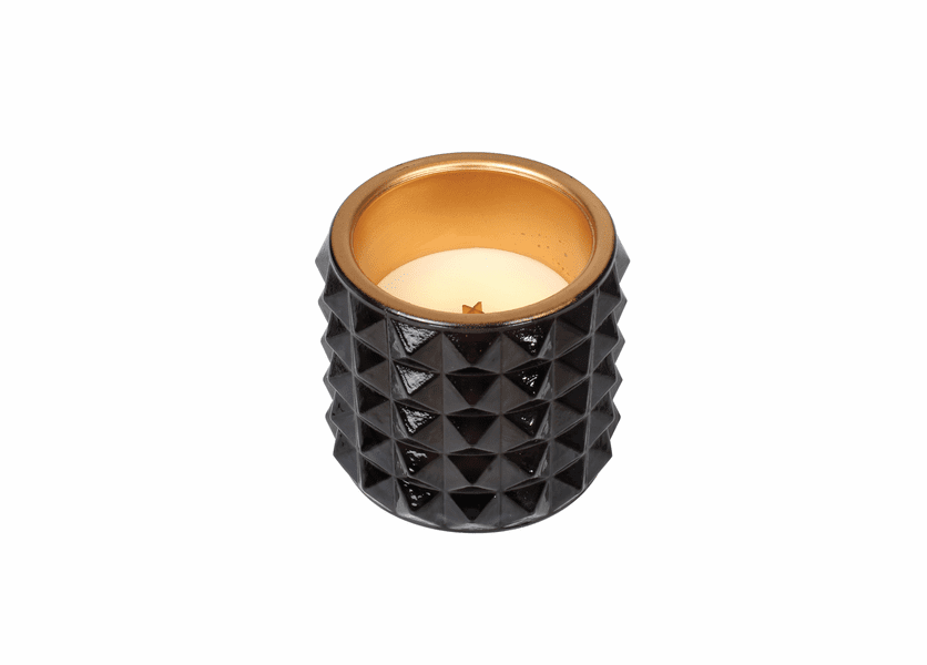 _DISCONTINUED - *Fireside Studded Glass WoodWick Candle