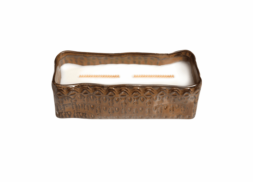 _DISCONTINUED - Fireside Tribal Large Rectangle WoodWick Candle with HearthWick Flame