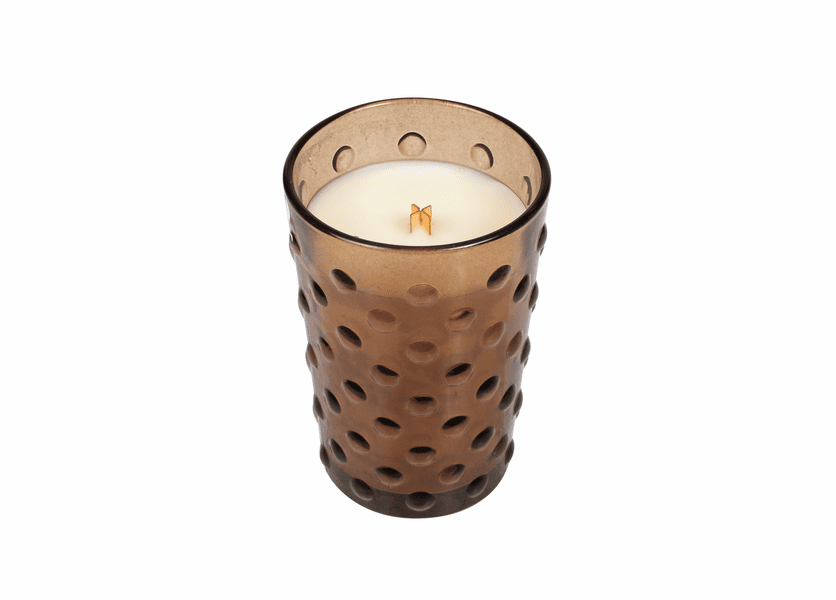 _DISCONTINUED - *Fireside Vintage Hobnail Glass WoodWick Candle
