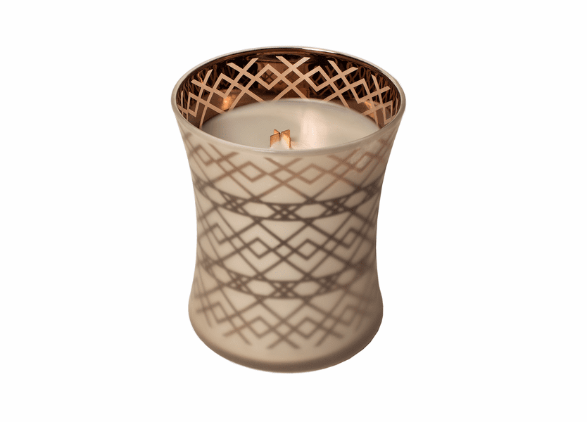 _DISCONTINUED - Fireside WoodWick Dancing Glass Candle