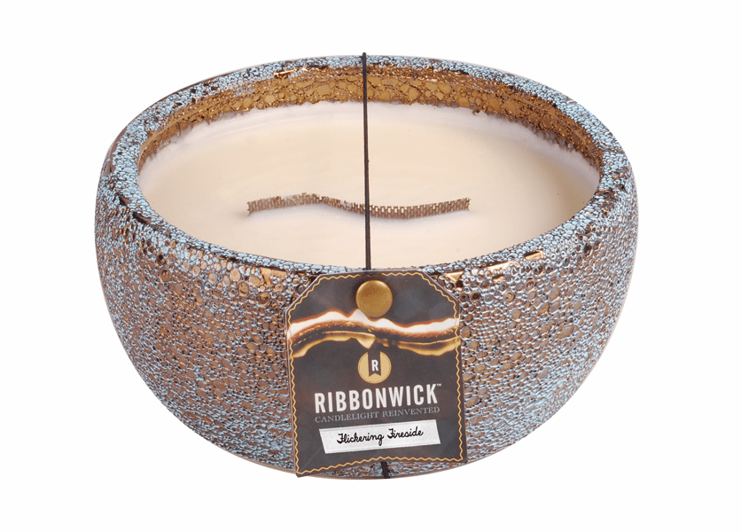 _DISCONTINUED - Flickering Fireside - Medium Round RibbonWick Candle