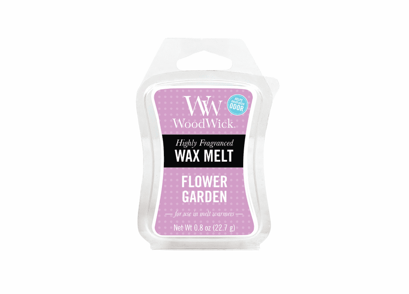 _DISCONTINUED - Flower Garden WoodWick ODOR NEUTRALIZING 0.8 oz. Mini Hourglass Wax Melt