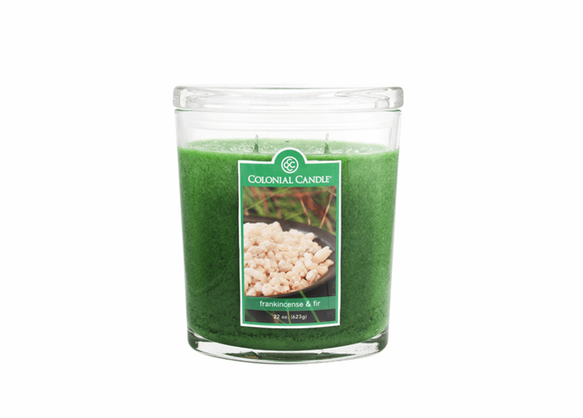 _DISCONTINUED - Frankincense & Fir 22 oz. Oval Jar Colonial Candle