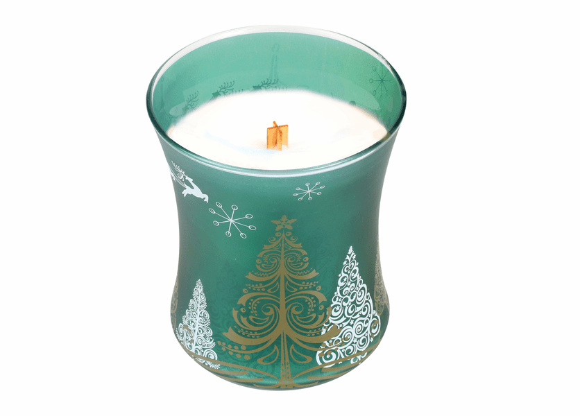 _DISCONTINUED - *Frasier Fir Classic Holiday Medium Hourglass WoodWick Candle