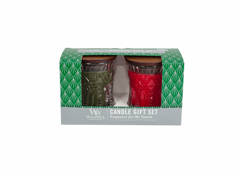 _DISCONTINUED - Frasier Fir / Crimson Berries 2-Pack Holiday Jeweled Gift Set by WoodWick