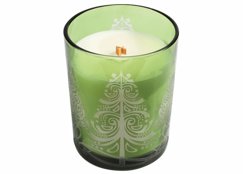 _DISCONTINUED - *Frasier Fir Etched Glass Tumbler WoodWick Candle