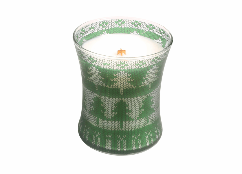 _DISCONTINUED - *Frasier Fir Holiday Comforts Sweater Hourglass WoodWick Candle