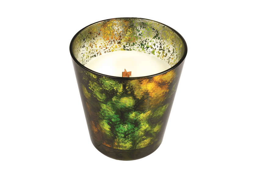 _DISCONTINUED - *Frasier Fir Holiday Green Art Glass WoodWick Candle