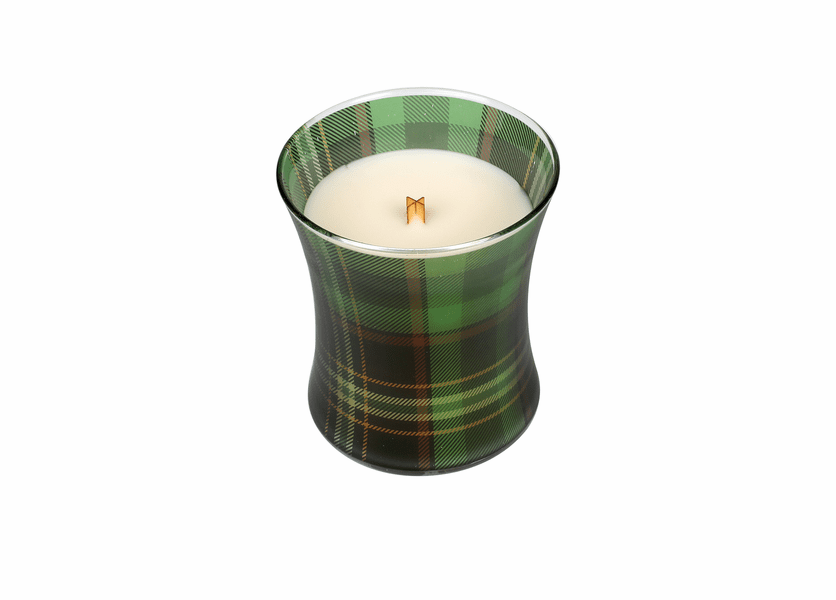 _DISCONTINUED - *Frasier Fir Holiday Plaid Hourglass WoodWick Candle