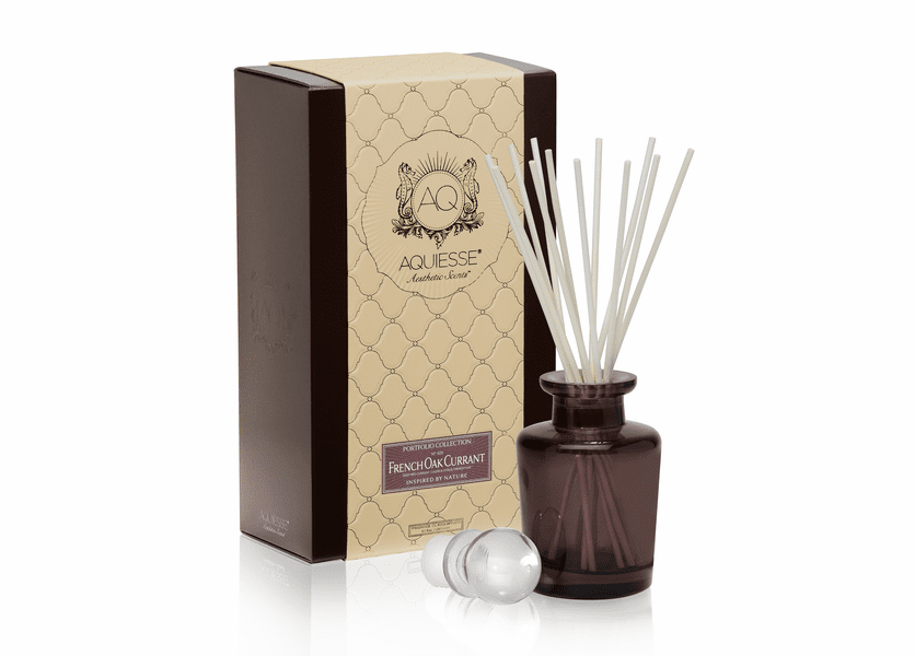 _DISCONTINUED - French Oak Currant Reed Diffuser Set by Aquiesse