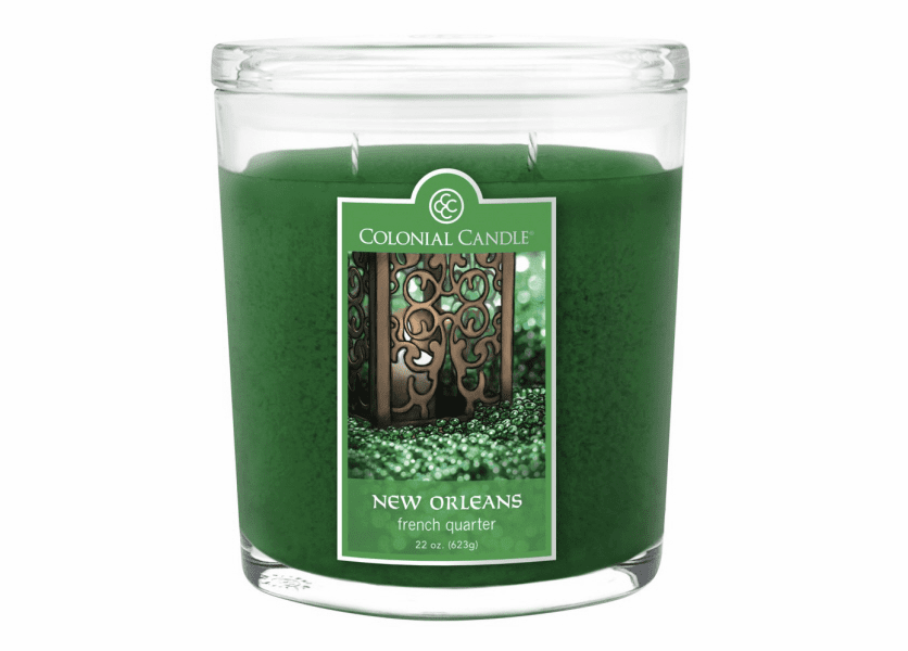 _DISCONTINUED - French Quarter 22 oz. Oval Jar Colonial Candle