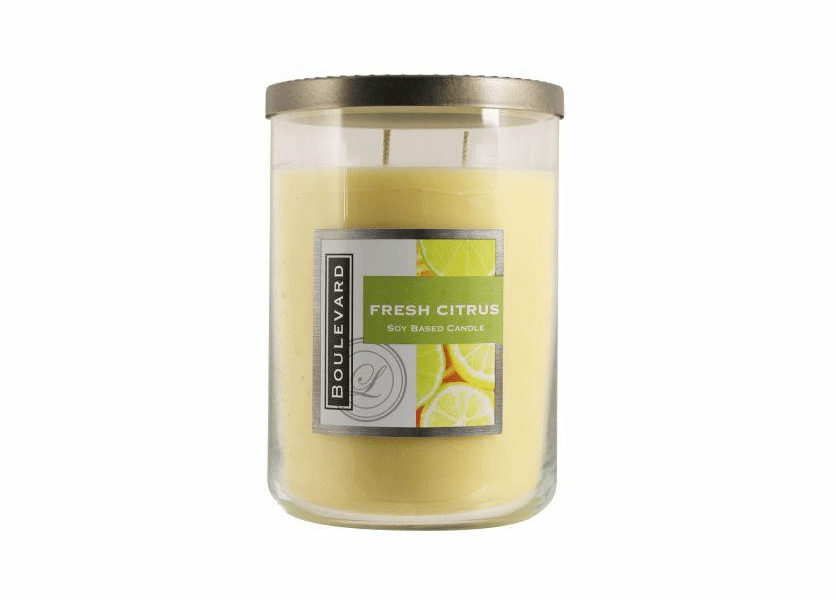 _DISCONTINUED - Fresh Citrus 22 oz. Jar Candle by Boulevard
