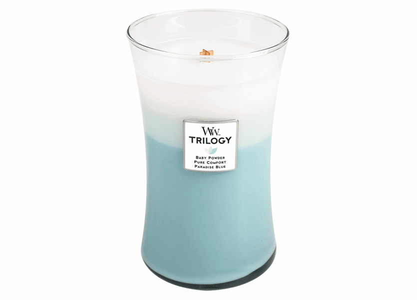 _DISCONTINUED - Fresh & Clean WoodWick Trilogy Candle 22oz