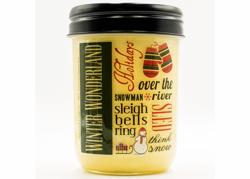 _DISCONTINUED - Fresh Cut Christmas Tree 12 oz. Holiday Vintage Jar Swan Creek Candle (Label: Winter Wonderland)