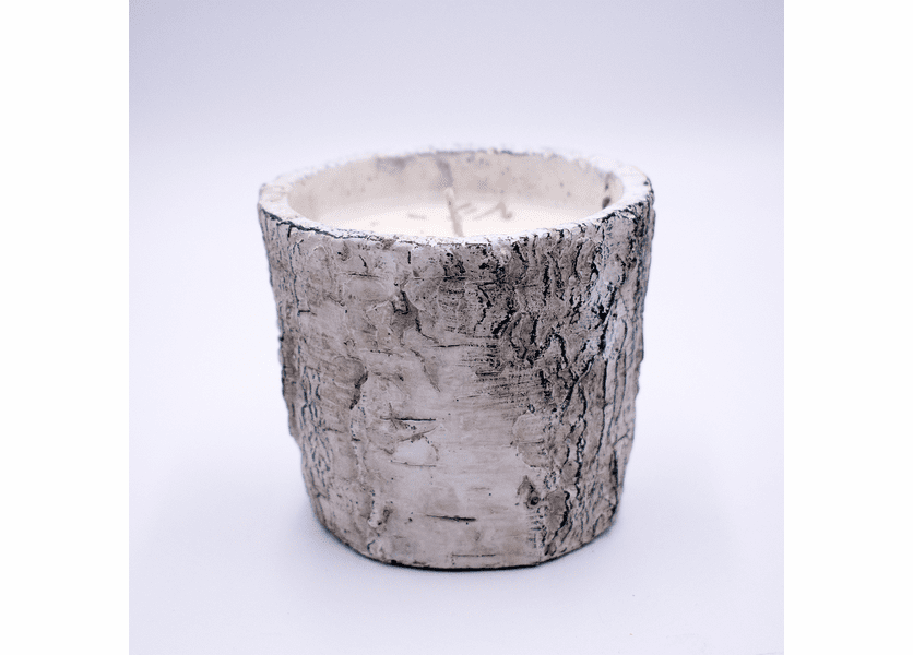 _DISCONTINUED - Fresh-Cut Christmas Tree White Woods Small Round Pot Swan Creek Candle