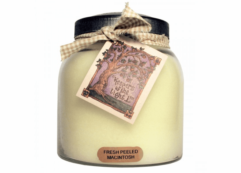 _DISCONTINUED - Fresh Peeled Macintosh 34 oz. Papa Jar Keeper's of the Light Candle by A Cheerful Giver