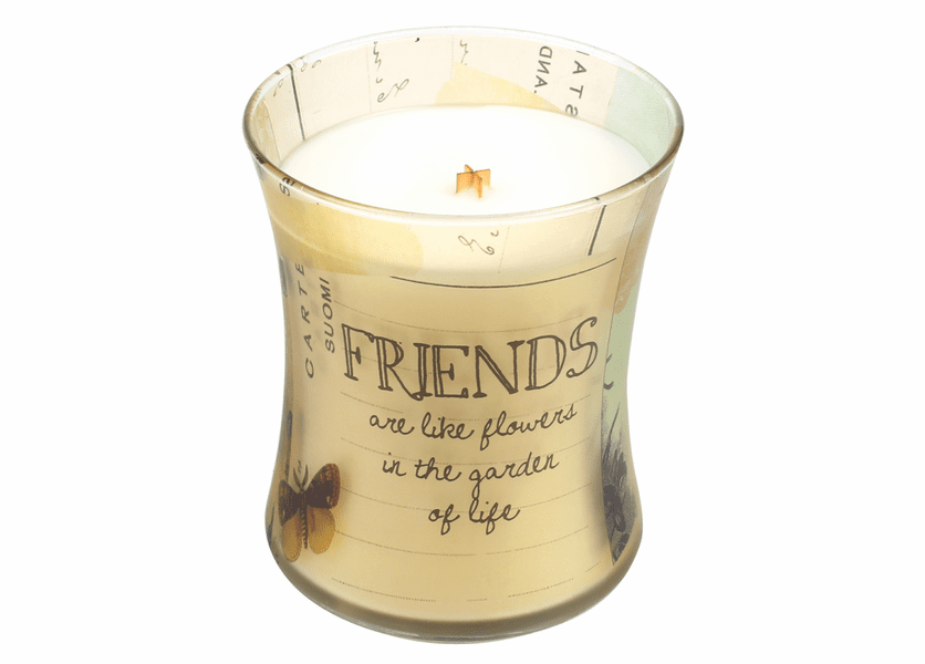 _DISCONTINUED - Friends Vanilla Bean Inspirational Collection Hourglass WoodWick Candle
