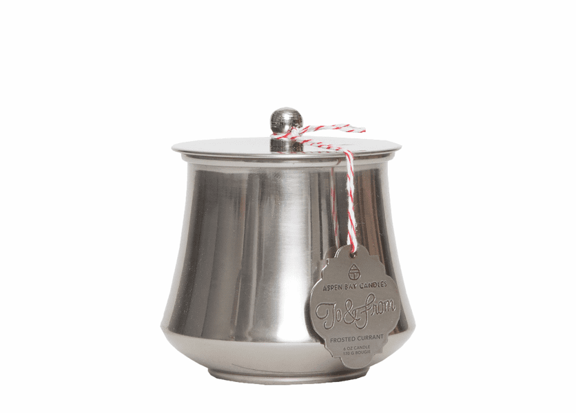 _DISCONTINUED - Frosted Currant 6 oz. Holiday Tin by Aspen Bay Candles