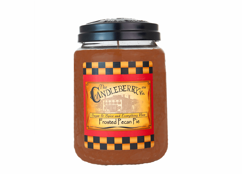 _DISCONTINUED - Frosted Pecan Pie 26 oz. Large Jar Candleberry Candle