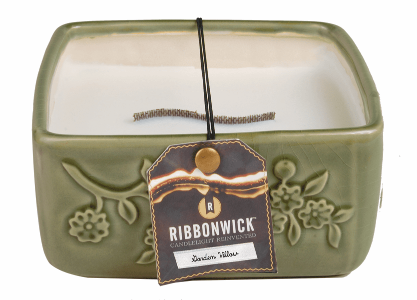 _DISCONTINUED - Garden Willow - Large Square RibbonWick Candle